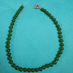 8mm jade green necklace